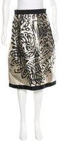 Giambattista Valli Brocade A-Line Skirt