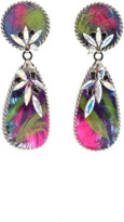 Erickson Beamon Bird Of Prey Drop Earrings