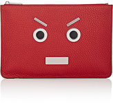 "Fendi Men's ""No Words"" Selleria Large Zip Pouch-RED"