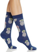 Happy Socks Pineapple Print Crew Socks