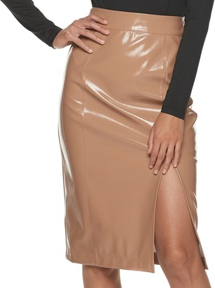 Apt. 9 Women's + Cara Santana Faux Leather Pencil Skirt