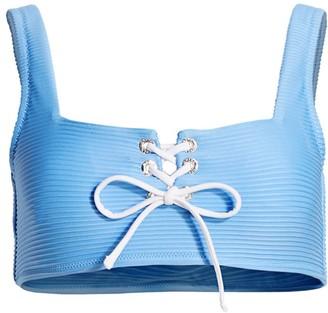 Heidi Klein Ribbed Squareneck Bikini Top