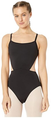 Bloch Embroidered Mesh Camisole Leotard (Black) Women's Jumpsuit & Rompers One Piece