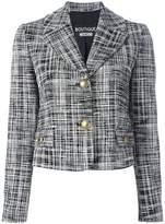 Moschino scratchy print jacket