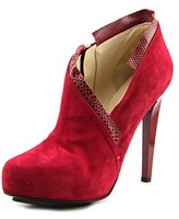 Burak Uyan Bu55-2 Women Pointed Toe Suede Red Heels.