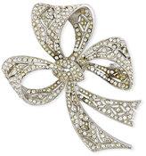 Kenneth Jay Lane Crystal Bow Pin
