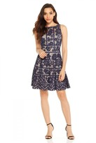 London Times L2337M Floral Lace Bateau Dress