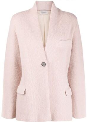 Laneus Fuzzy Blazer-Style Cardigan