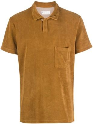 Universal Works Vacation fleece polo shirt