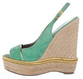 Versace Espadrille Wedge Sandals