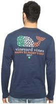 Vineyard Vines Long Sleeve St. Patrick's Day Pocket Tee Men's T Shirt