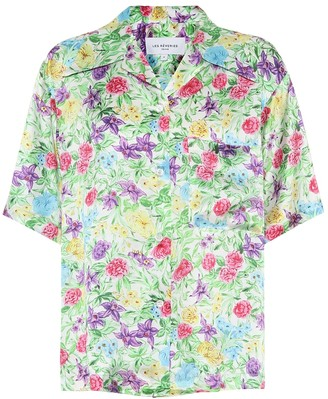 Les Rêveries Floral silk shirt
