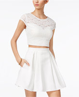 Teeze Me 2-Pc. Lace Fit and Flare Dress