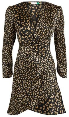 Rixo Lilly Leopard Print Mini Dress