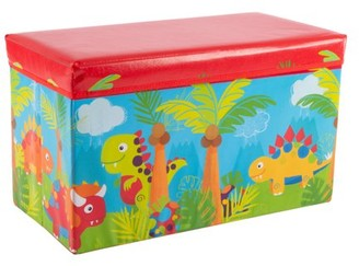 Collapsible Dinosaur Toy Box - Folding Storage Bin by Hey! Play!