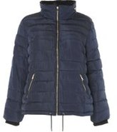 Dorothy Perkins Womens DP Curve Plus Size Blue Short Padded Jacket- Blue