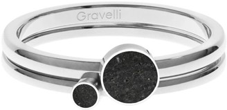Gravelli Double Dot Ring Set Stainless Steel & Concrete Anthracite