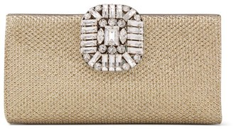 Jimmy Choo Metallic Fabric Leonis Clutch Bag