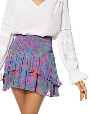Ramy Brook Jackson Silk Printed Mini Skirt