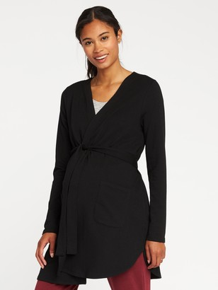 Old Navy Maternity French Terry Tie-Belt Robe