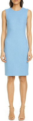 St. John Micro Floral Knit Sheath Dress