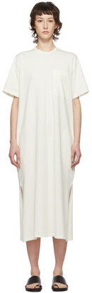 Studio Nicholson Off-White Jersey Boyd Dress