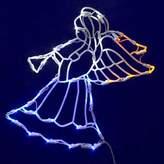 Vickerman 35 LED Light Angel Window Decor Multicolored