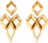Erickson Beamon Geometry One gold-plated Swarovski crystal earrings