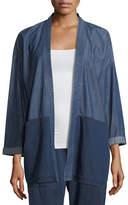 Eileen Fisher Tencel® Organic Cotton Denim Kimono Jacket, Plus Size