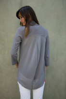 Goddis Presley Sheer-Back Cardi In Iron M/L