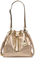 Michael Kors Frankie Large Metallic Leather Shoulder Bag