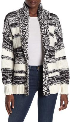 360 Cashmere Annie Stripe Knit Cardigan