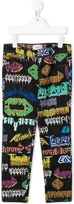 Gucci Kids Logo Print Slim Fit Jeans