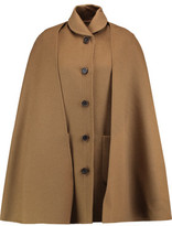 Rosetta Getty Cape-Effect Belted Wool And Alpaca-Blend Coat