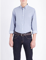 Tommy Hilfiger Carl slim-fit micro-print cotton shirt