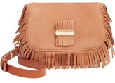 See by Chloe 'Medium Paige' Fringe Leather & Suede Clutch