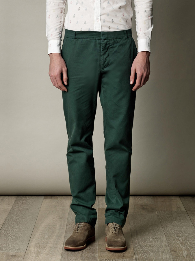 Band Of Outsiders Cotton chino trousers