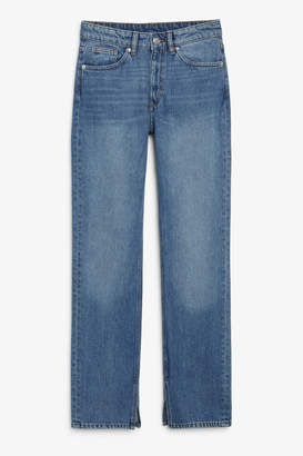 Monki Side slit jeans