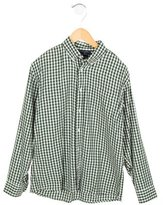 Oscar de la Renta Gingham Button-Up Shirt