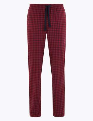 M&S CollectionMarks and Spencer Supersoft Checked Long Pyjama Bottoms