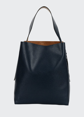 Valextra Saffiano Tall Hobo Bag