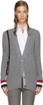 Thom Browne Grey Shoulder Bag Cardigan