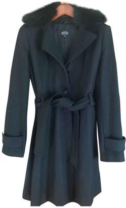 Arfango Black Wool Coat for Women