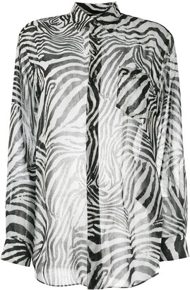 Junya Watanabe Zebra Print Shirt