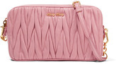 Miu Miu Small Matelassé Leather Camera Bag - Baby pink