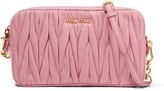 Miu Miu Small Matelassé Leather Camera Bag - Baby pink