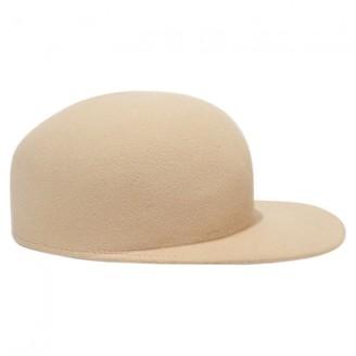 Maison Michel Beige Wool Hats