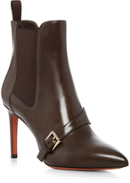 Santoni Buckle Strap Ankle Boot
