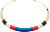Isabel Marant Striped Gold-Tone Woven Choker