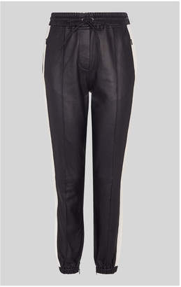 Whistles Leather Side Stripe Jogger